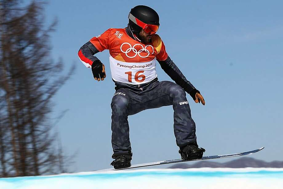 Markus Schairer of Austria competes during the Men's Snowboard Cross Seeding on day six of the PyeongChang 2018 Winter Olympic Games at Phoenix Snow Park on February 15, 2018 in Pyeongchang-gun, South Korea. Photo: Clive Rose, Getty Images