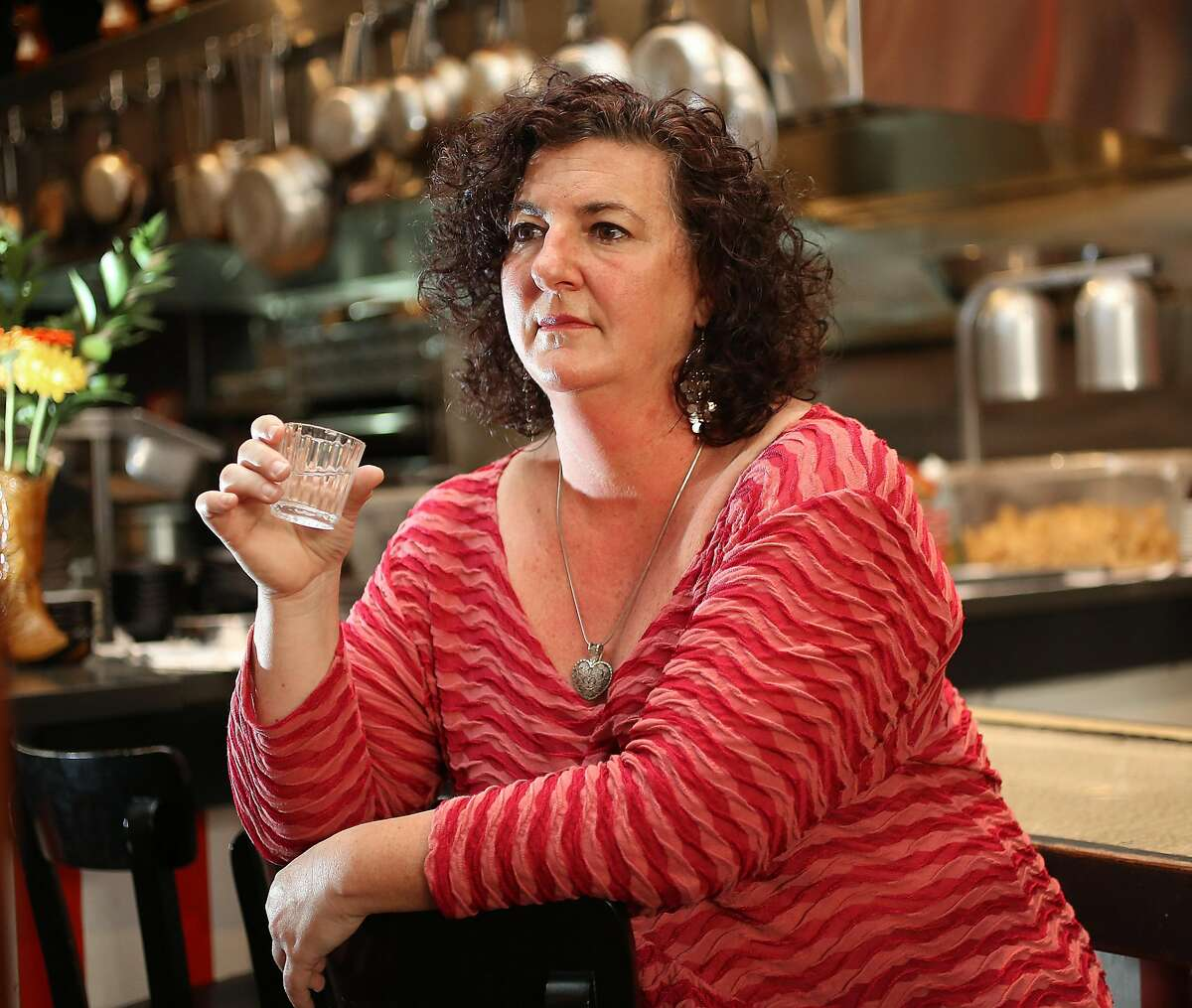 Local mezcal educator and activist Susan Coss drinks mezcal at Lolo on Thursday, February 8, 2018, in San Francisco, Ca.