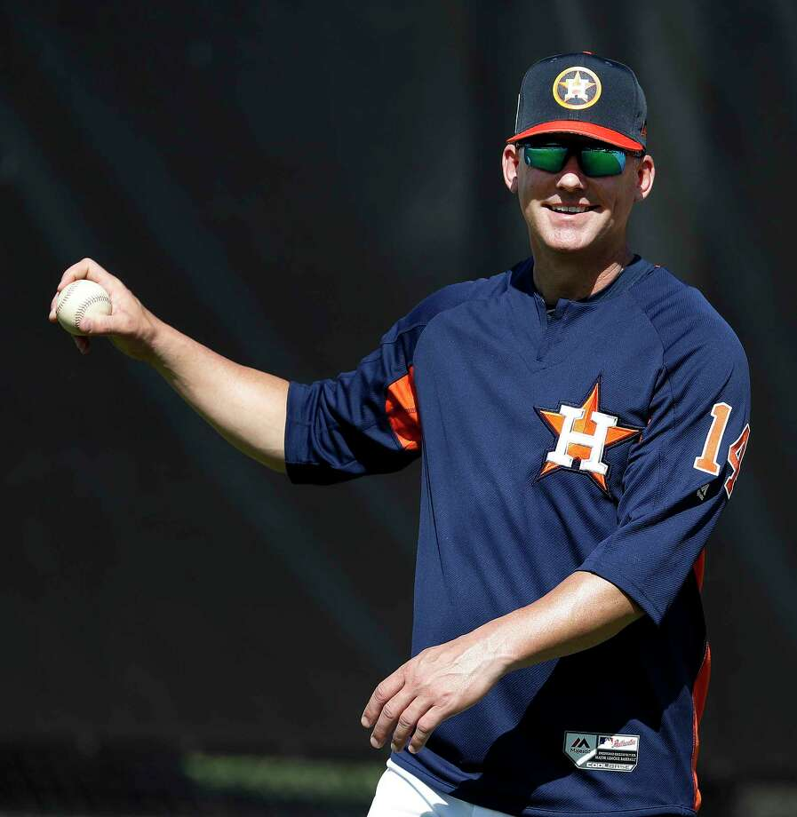 Astros manager A.J. Hinch isn't all smiles when the topic turns to playing night games during spring training. Photo: Karen Warren, Houston Chronicle / © 2018 Houston Chronicle