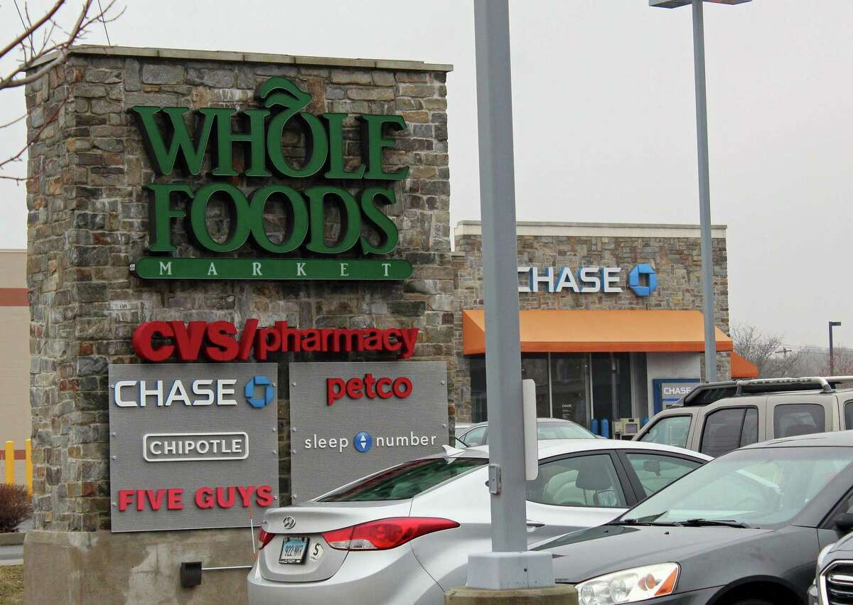 A shopping center with a Whole Foods grocery store now stands on the site of a former precious metals foundry, just down the road from the Fairfield Metro train station. Fairfield,CT. 2/16/18