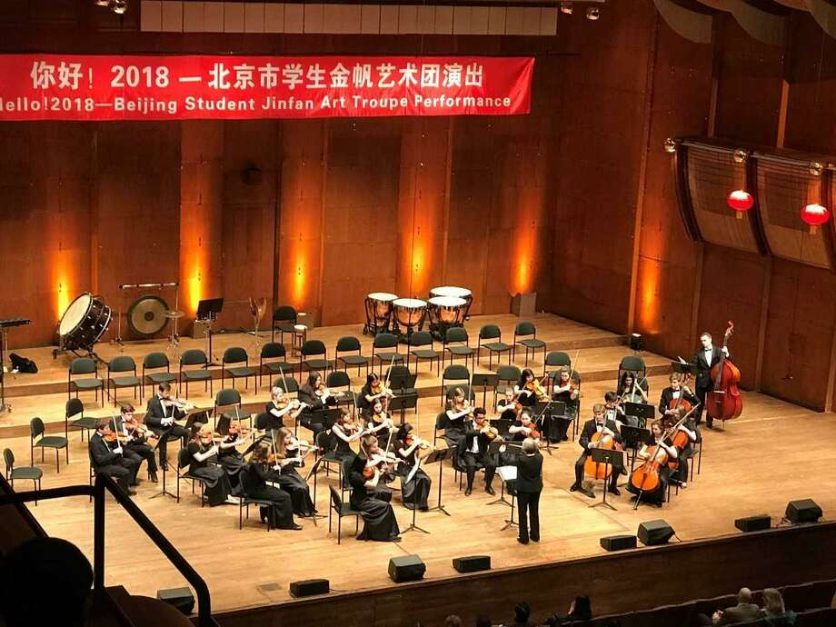 The Darien High School students performed  in a cultural exchange concert with students from China on Feb. 5, 2018 at the Lincoln Center in New York, N.Y. Photo: Contributed Photo / Contributed Photo / Darien News contributed