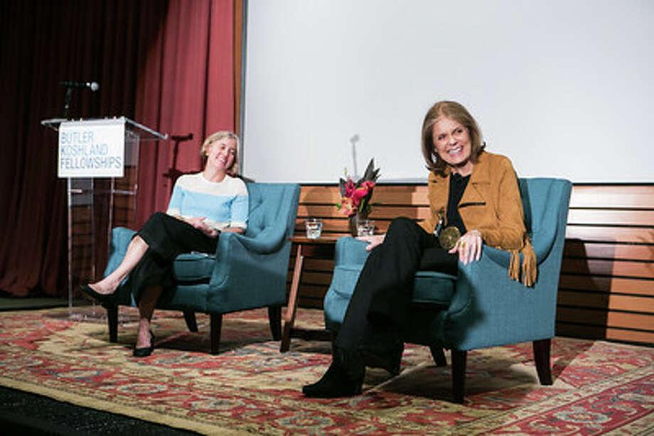 Amy Richards and Gloria Steinem at Butler Koshland Fellowships' Celebration of Mentorship. / ©Barak Shrama
