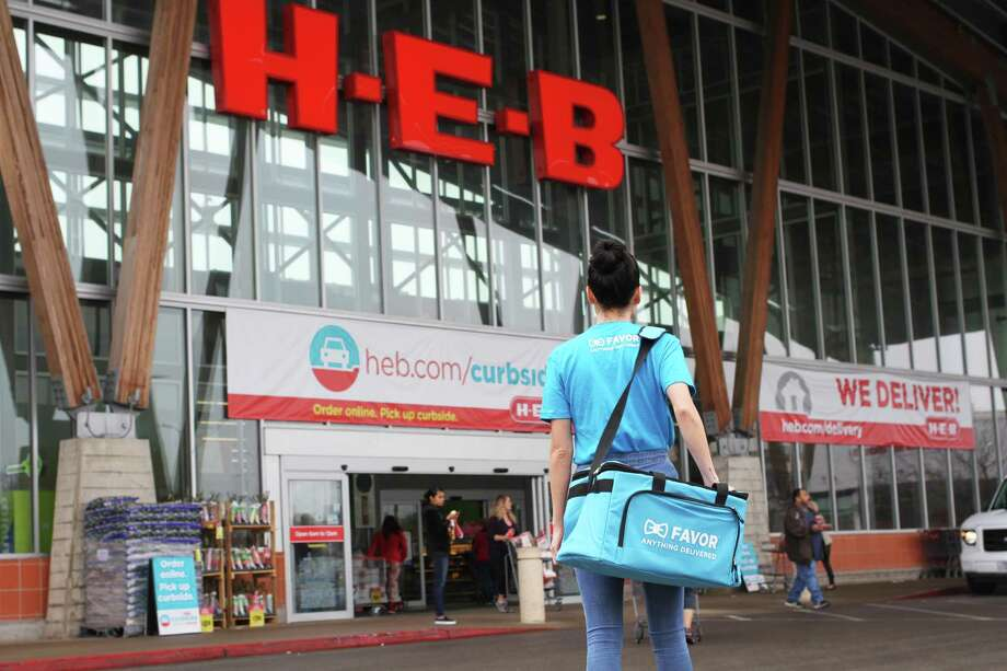 H-E-B has launched free one-hour beer and wine delivery through its subsidiary Favor Delivery through Labor Day.Keep going to see photos of the new two-story H-E-B store. Photo: Courtesy /H-E-B /