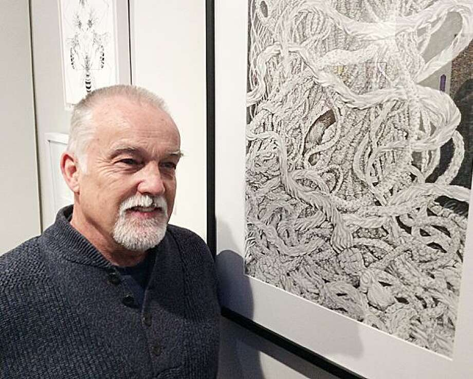 Dan Long, of Westport, won second place for his drawing in the Beyond Brushwork exhibition at the Rowayton Arts Center. Photo: Contributed Photo / Contributed Photo / New Canaan News