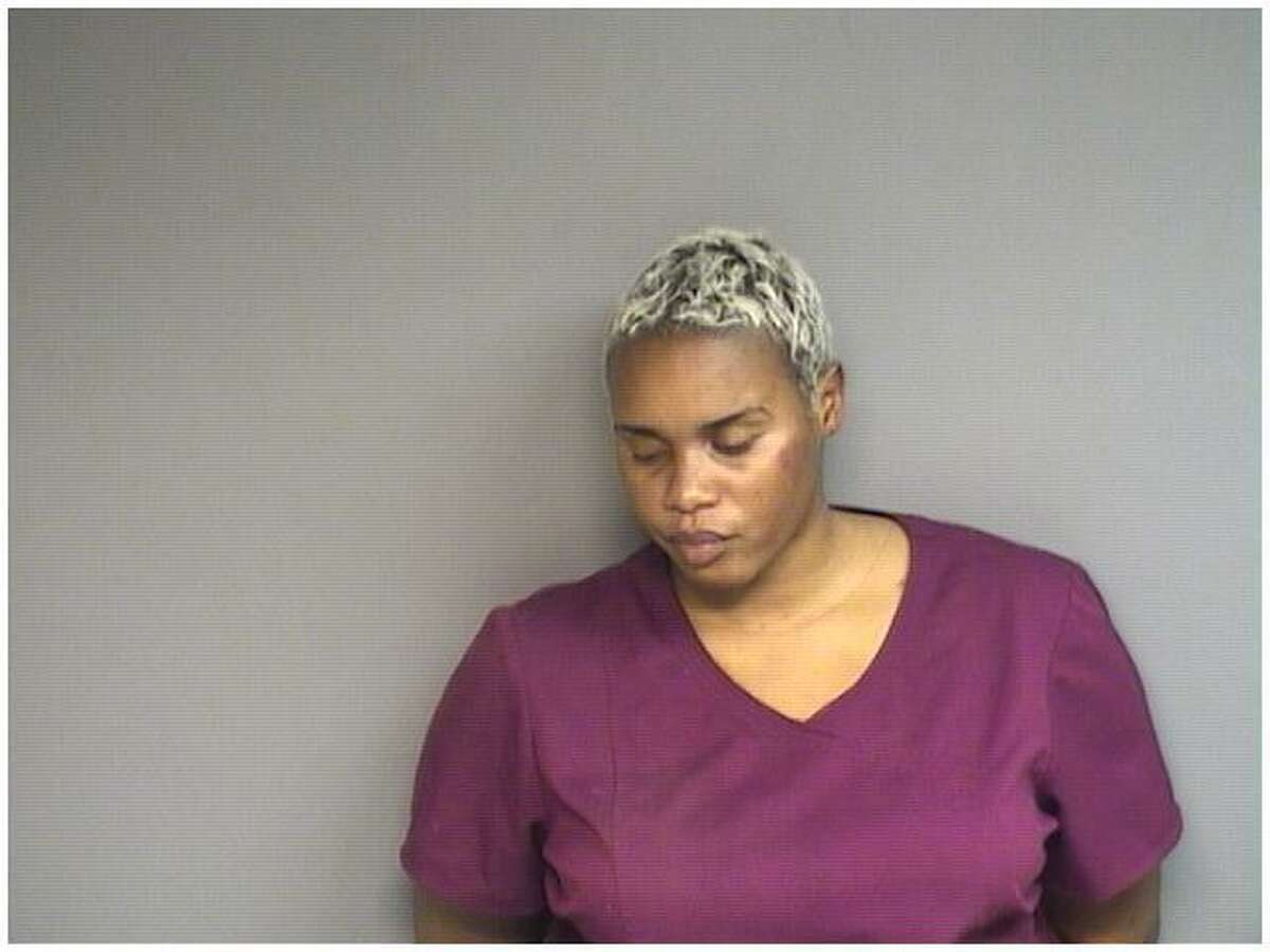 Shyieca Bacchas, 34, of Stamford, was charged with trying to assault a police officer and risk of injury to a child during a traffic stop in Stamford on Wednesday.