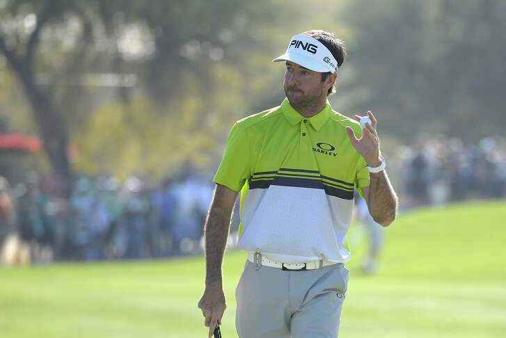 SCOTTSDALE, AZ - FEBRUARY 03:  Bubba Watson waves to the gallery after making a putt on the first hole during the third round of the Waste Management Phoenix Open at TPC Scottsdale on February 3, 2018 in Scottsdale, Arizona.  (Photo by Robert Laberge/Getty Images)