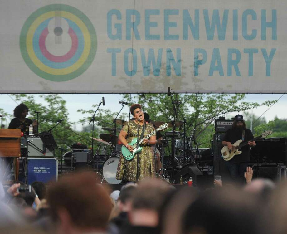 The Alabama Shakes, led by guitarist and vocalist Brittany Howard, performs at the 2017 Greenwich Town Party at Roger Sherman Baldwin Park in Greenwich. The Think Greenwich Campaign hopes to tout positive aspects of Greenwich in promoting the town. Photo: Tyler Sizemore / Hearst Connecticut Media / Greenwich Time