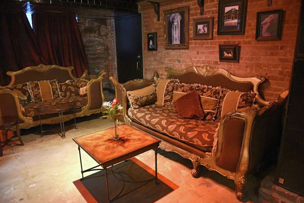 Couch area of SpeakEasy 518 located at the City Beer Hall on Wednesday, Feb. 7, 2018 in Albany, N.Y. (Lori Van Buren/Times Union)