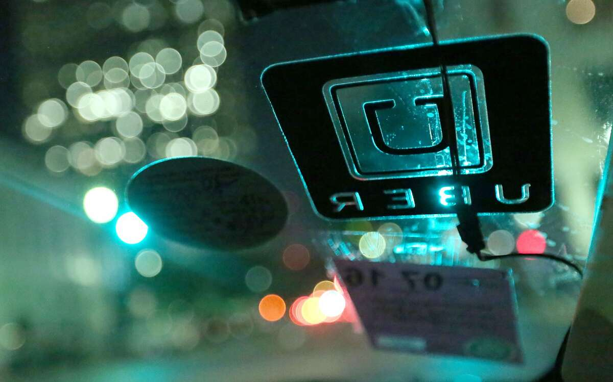 Uber, a ride-sharing company with outfits throughout the U.S., is expanding to Beaumont. An Uber decal is seen on the windshield of Shirley Fuller's car Friday, Aug. 7, 2015, in Houston. Fuller was laid off from her job at a valve manufacturing company March 25. She is one of a growing number of people who struggle to earn enough money as low oil prices push energy companies to lay off workers. ( Jon Shapley / Houston Chronicle ) MANDATORY CREDIT : Jon Shapley / Houston Chronicle Photographer Contact: Jon Shapley, jon.shapley@chron.com Original File Name: 114A7470.JPG