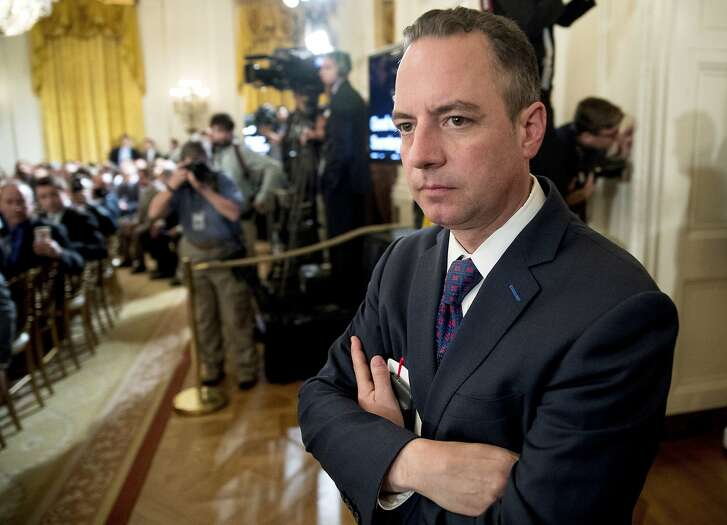 FILE - In this June 5, 2017, file photo, President Donald Trump's Chief of Staff Reince Priebus attends an event in the East Room at the White House in Washington. The former White House chief of staff injected himself Monday, Jan. 22, 2018, in the Republican primary for Wisconsin's Senate seat, casting doubt on Kevin Nicholson's conversion to the GOP after previously serving as national president of the College Democrats. Priebus, who led the state party in Wisconsin before serving as chairman of the Republican National Committee, instead endorsed state Sen. Leah Vukmir in the GOP Senate primary. (AP Photo/Andrew Harnik, File)