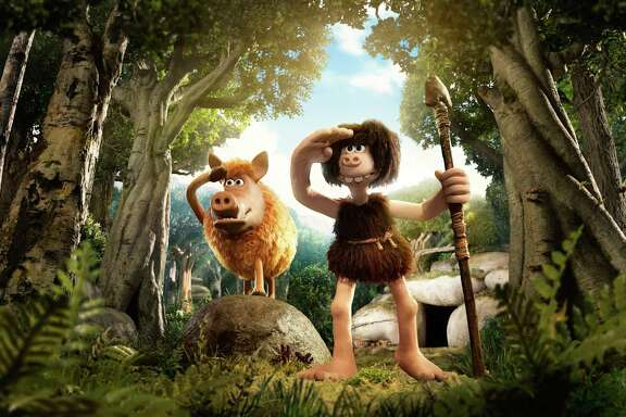 "Aardman Animations star Nick Park, the brilliant mind behind the adventures of ""Wallace & Gromit,"" tries to outdo the Flintstones in his latest comedy ""Early Man."" (Lionsgate)"