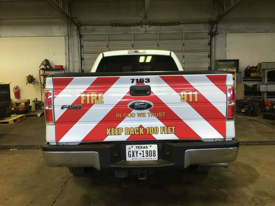 "Beaumont City Council approved adding ""In God We Trust"" decals to the city's public safety vehicles. The decals, which have not yet been purchased, may look like these examples created by the city. Photo: Photo Provided By City Of Beaumont"