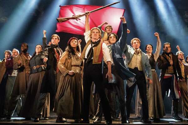 """The touring cast of """"Les Miserables"""" performs the song """"One Day More."""" (Photo by Matthew Murphy/Les Miserables via Proctors.)"""
