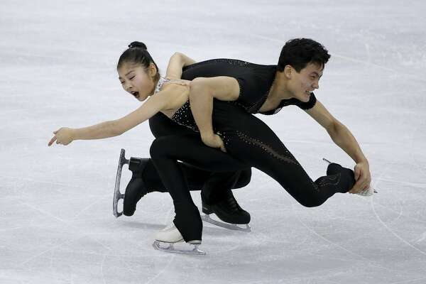Tae Ok Ryom and Ju Sik Kim of North Korea during the Figure Skating Pair Skating Free Program on day six of the PyeongChang 2018 Winter Olympic Games at Gangneung Ice Arena on February 15, 2018 in Gangneung, South Korea.