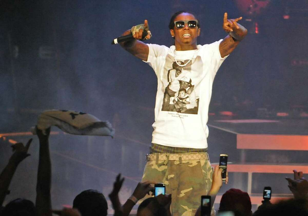 Lil Wayne performs at Saratoga Performing Arts Center in Saratoga Springs, NY on July 29, 2009. (Lori Van Buren / Times Union)
