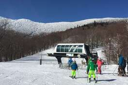 Sugarbush in north central Vermont has two separate areas linked by the Slide Brook Express chairlift.