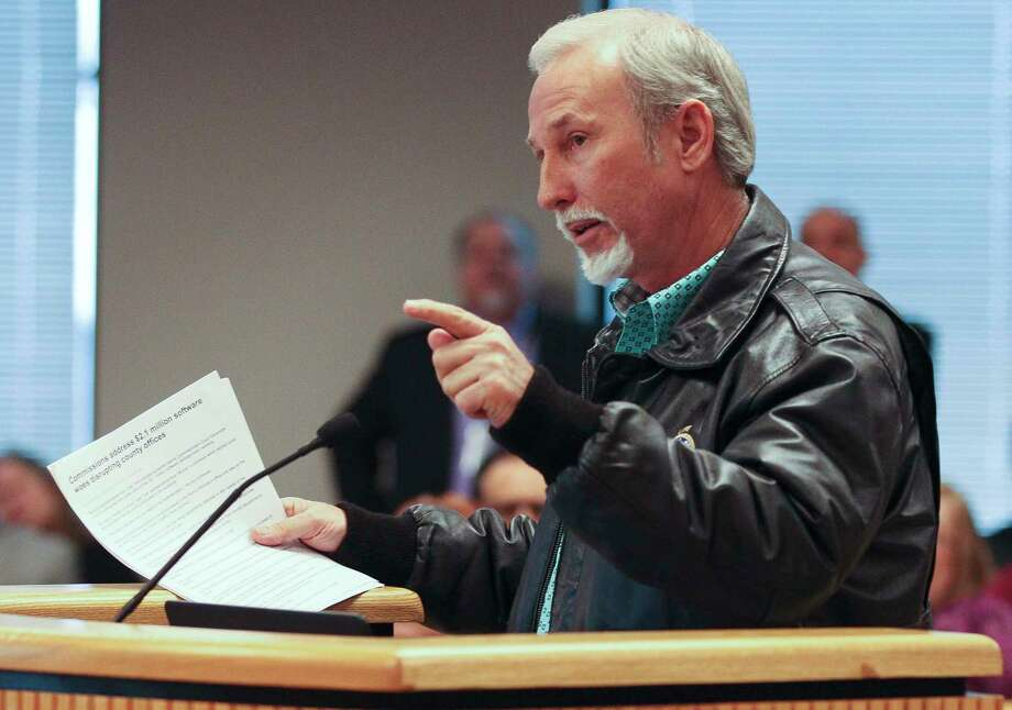James Metts, Montgomery County Precinct 4 Justice of the Peace, speaks during a Montgomery County Commissioners Court meeting at theAlan B. Sadler Administration Building, Tuesday, Feb. 13, 2018, in Conroe. Photo: Jason Fochtman, Staff Photographer / © 2018 Houston Chronicle