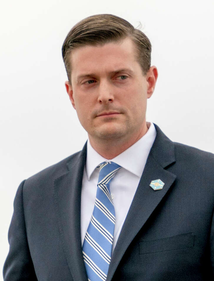 White House Staff Secretary Rob Porter. Porter resign his position after a news account that quoted his two ex-wives accusing him of physical abuse during the course of their marriages.