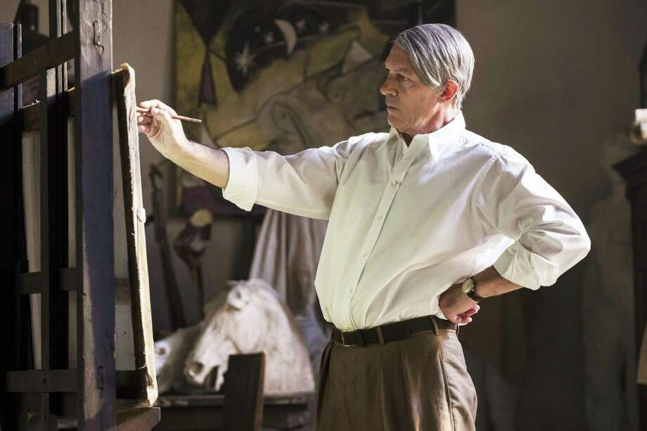 "Antonio Banderas, with white hair and worn skin, disappears into the role of the older Picasso in his creative heyday in National Geographic's second season of ""Genius."" Photo: Dusan Martincek /National Geographic / National Geographic"