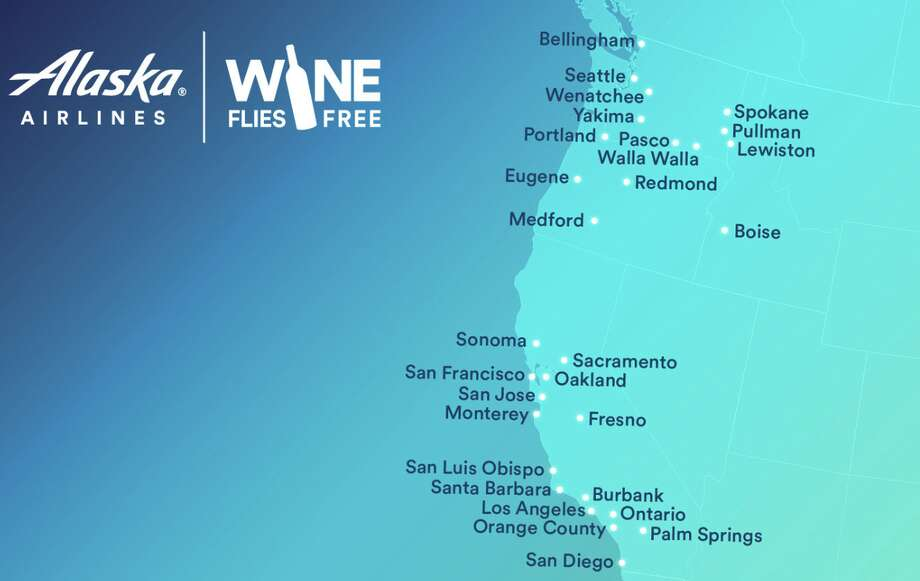 Cities where wine flies free on Alaska Airlines Photo: Alaska Airlines