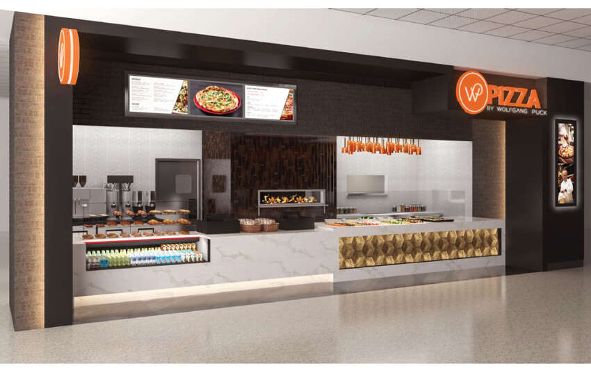 Rendering of Wolfgang Puck Pizza at Albany International Airport.
