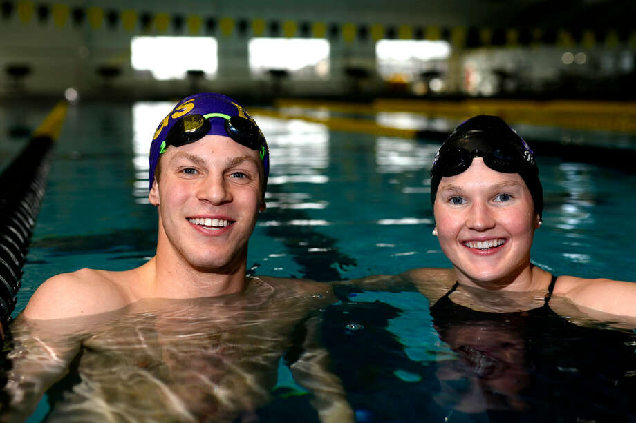 Braden Vines and Mollie Wright qualified for the UIL state swim meet, photographed Feb. 13, 2018, at COM Aquatics. James Durbin/Reporter-Tele­gram