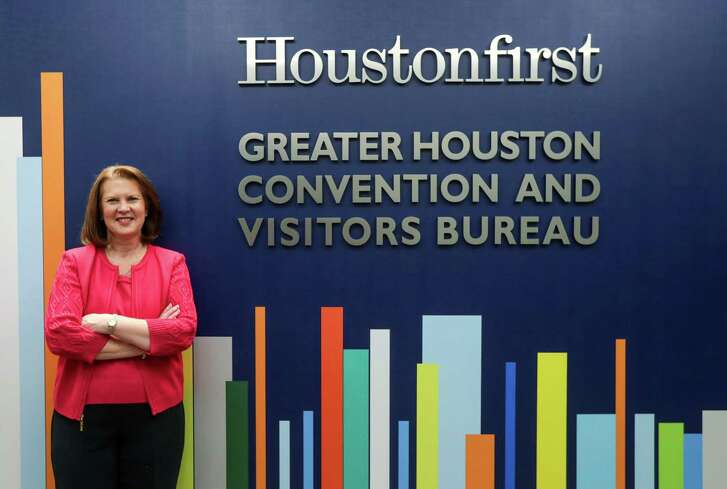 Brenda Bazan, chief financial officer of Houston First Corporation, who was nominated for the position of CEO and president, poses for a portrait at the Houston First Corporation offices, Thursday, Feb. 15, 2018, in Houston.  ( Jon Shapley / Houston Chronicle )