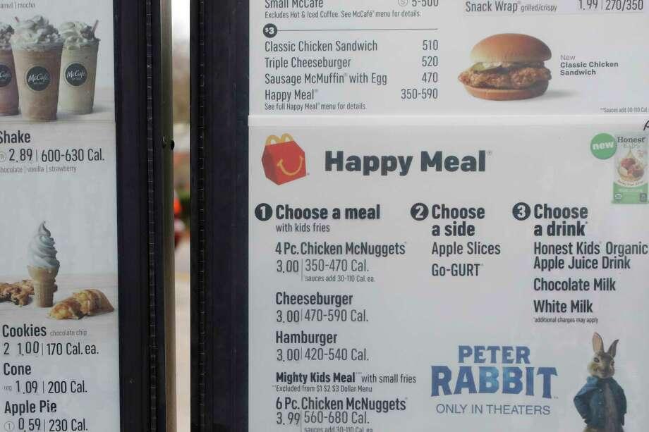 McDonald s moves cheeseburgers off Happy Meal menu