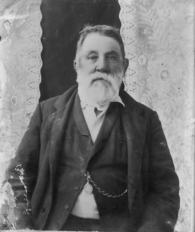 COPY NEGATIVE OF A PORTRAIT OF JUDGE ROY BEAN TAKEN BY LEACH & CO., LLANO, TEXAS. CIRCA 1890 (CREDIT: UTSA Libraries Special Collections) Photo: LEACH & CO., UTSA Special Collections / Institute of Texan Cultures