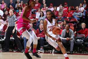 Freshman Kiana Williams scored a career-high 26 points to lead Stanford past the Cal women at Maples Pavilion.