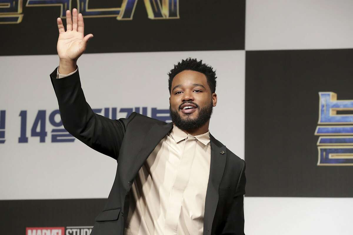 Director Ryan Coogler attended the press conference for the Seoul premiere of 'Black Panther' on February 5.
