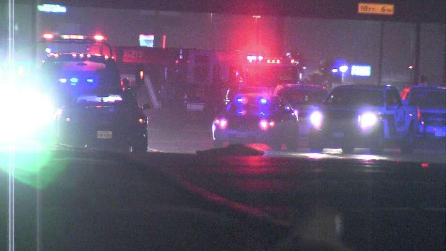 Bexar County deputies found the body around 2:30 a.m. near West Military Drive and U.S. 90. Photo: Ken Branca