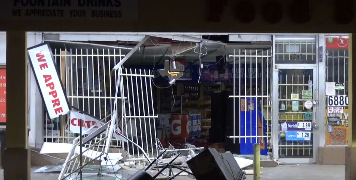 Unknown suspects stole an ATM out of a Hobby-area food store, early Friday Feb. 16, 2018.
