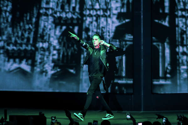 Oakland rapper G-Eazy hosted the opening night of his The Beautiful And Damned Tour at Smart Financial Centre on February 15th, 2018 in Sugar Land, Texas. (Photo by Marco Torres/Houston Chronicle)