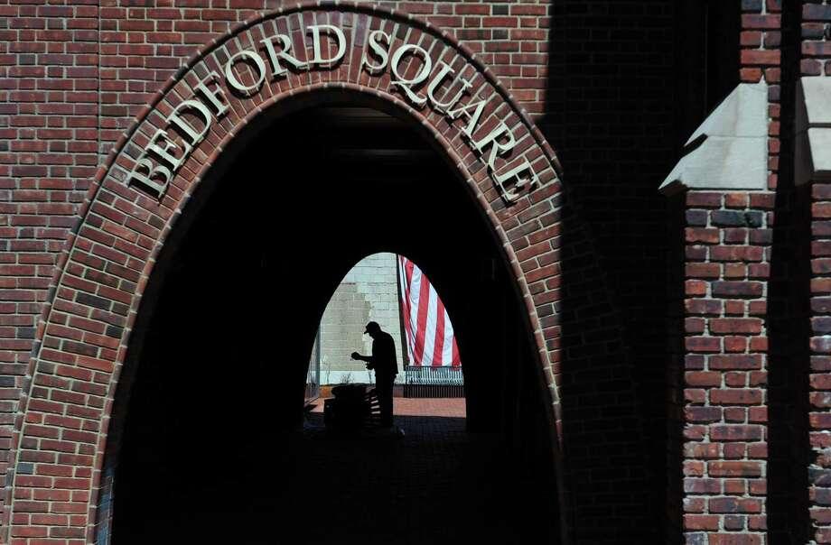 Bedford Square in Westport, Conn. Photo: Erik Trautmann / Hearst Connecticut Media / Norwalk Hour