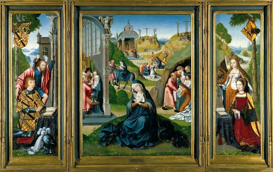 "The ""Master of the Legend of Magdalen"" triptych. Photo: Ronnie Rysz / YCBA"