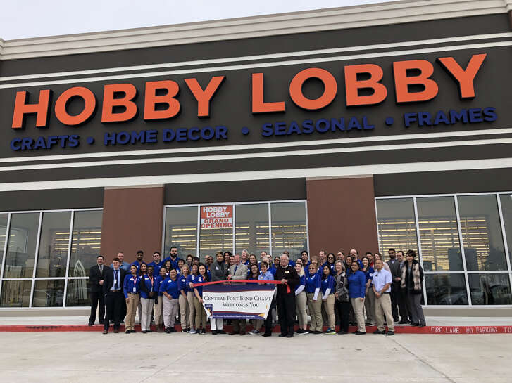 The Central Fort Bend Chamber and members of the Richmond/Rosenberg community attended a ribbon cutting for Hobby Lobby in Richmond on Feb. 12, 2018.