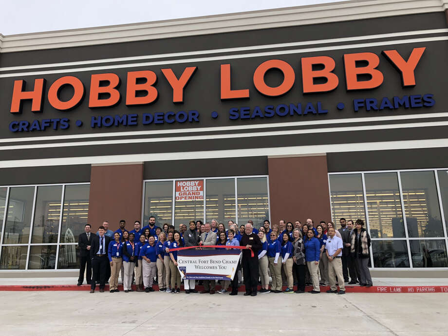 The Central Fort Bend Chamber and members of the Richmond/Rosenberg community attended a ribbon cutting for Hobby Lobby in Richmond on Feb. 12, 2018. Photo: Central Fort Bend Chamber