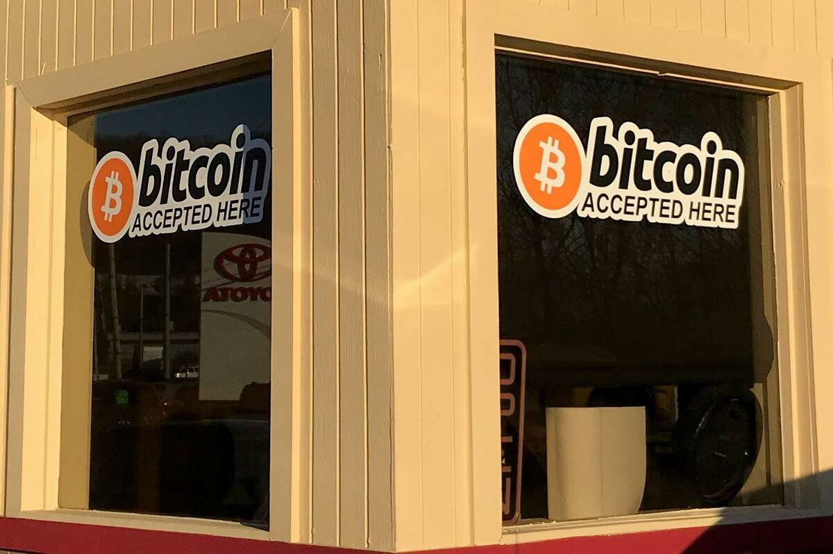 EZ2Drive used car dealership and garage in Danbury, Conn., seen here on Tuesday, Feb. 6, 2018, is accepting Bitcoin as a form of payment.