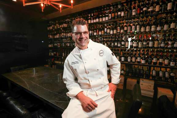 Photo of Chef Danny Trace for Alison Cook's review of Potente, the high-end restaurant owned by Jim Crane, Astros owner located across the street from Minute Maid Park Thursday, Nov. 2, 2017, in Houston.