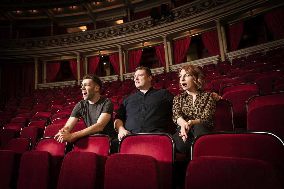 "James Cooper, Jamie Morton and Alice Levine of the popular ""My Dad Wrote a Porno"" podcast. Photo: Royal Albert Hall/Courtesy"