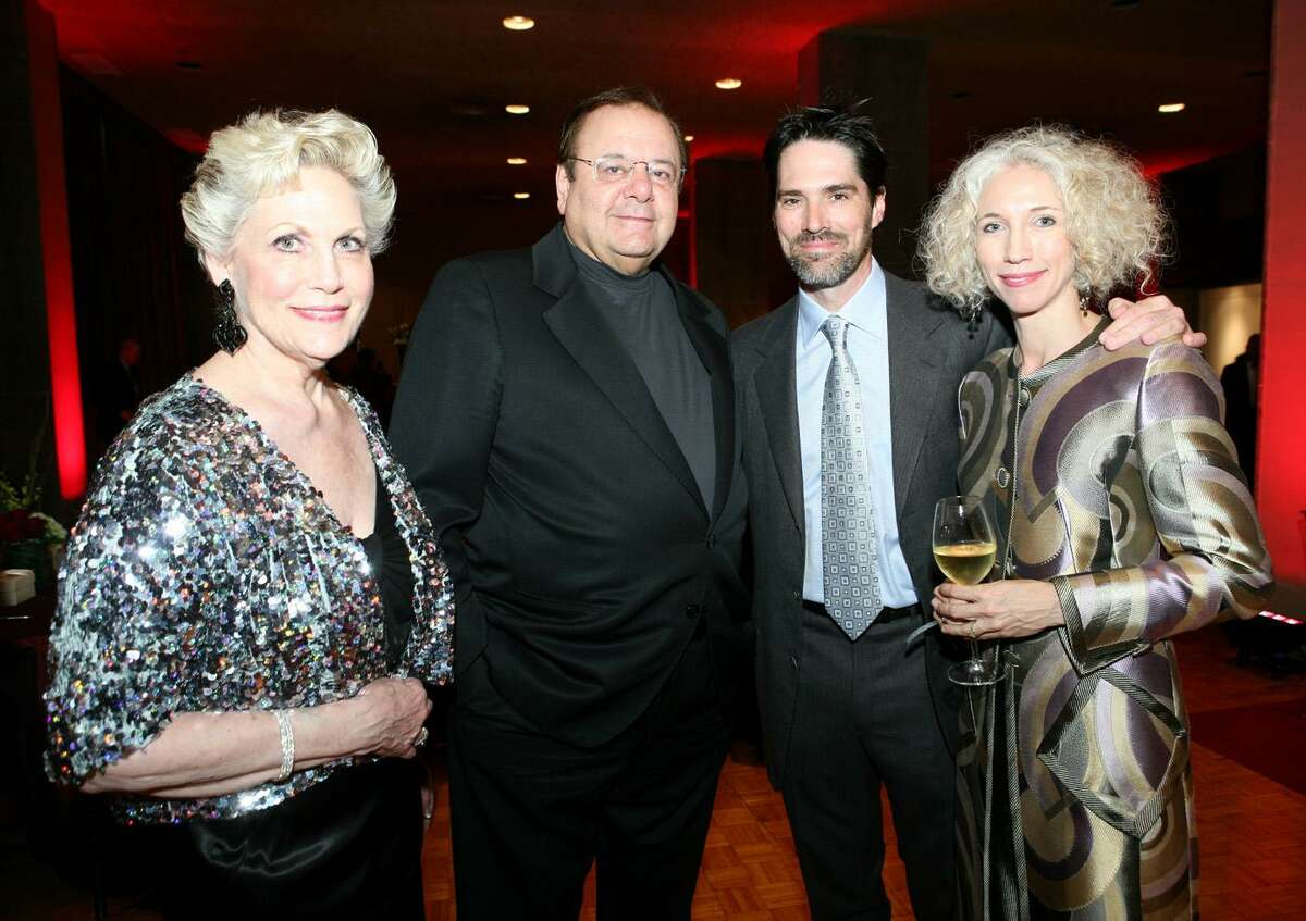 Thomas Gibson and his wife, Cristina, in a 2008 photo alongside Carol Karotkin and actor Paul Sorvino at the Elixir of Love SA Opera performance and reception in the Lila Cockrell Theatre.