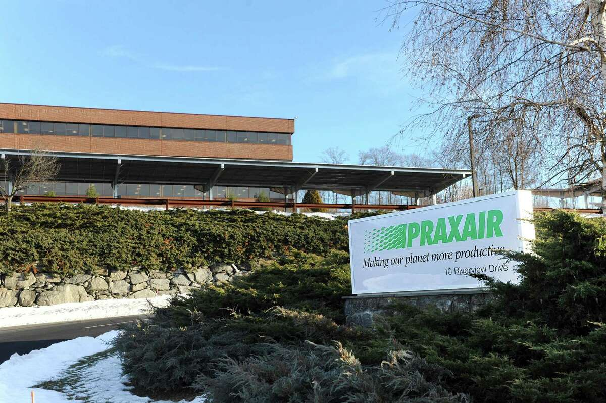 The Praxair headquarters at the Berkshire Corporate Park in Danbury, Tuesday, Dec. 20, 2016. Industrial-gas giants Praxair Inc. and Germany?'s Linde AG concluded a two-year courtship Tuesday, Dec. 20, 2016, agreeing to join forces to create the industry?'s biggest player with a combined market value of $66.6 billion.