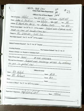 This is one of many Glens Falls Police Department reports Christopher Schmidt obtained under the Freedom of Information Law. (Lori Van Buren / Times Union) Photo: LORI VAN BUREN