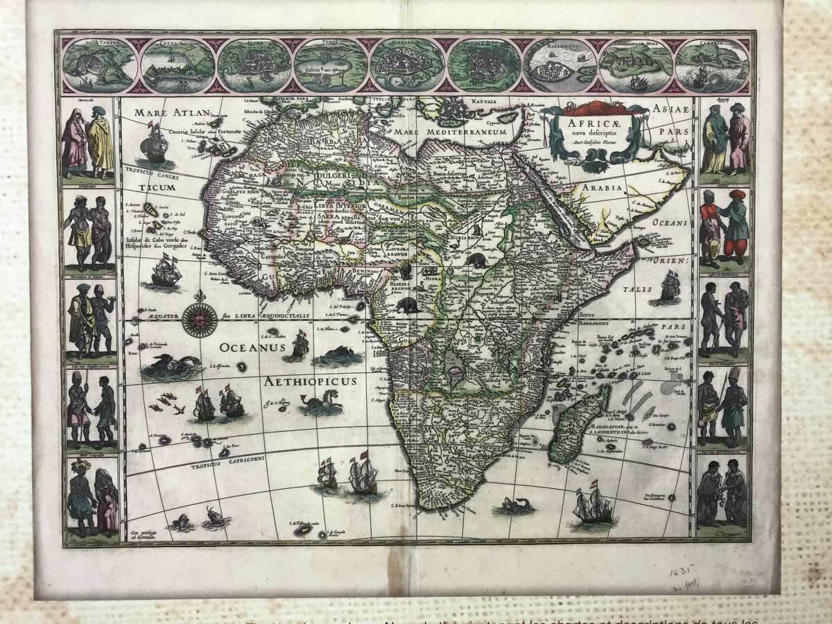 A Dutch map of Africa on exhibit at Crailo. (Crailo State Historic Site, New York State Office of Parks, Recreation and Historic Preservation)