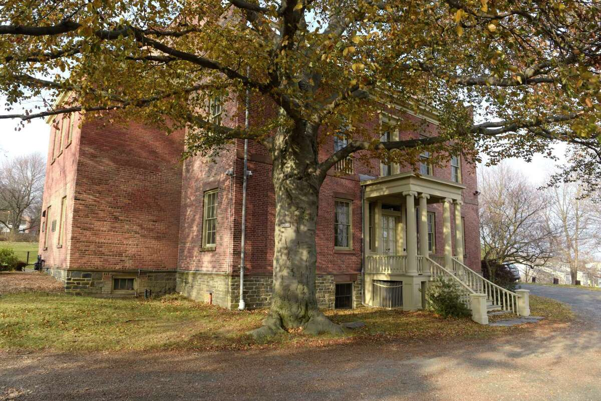 A view of the Ten Broeck Mansion.