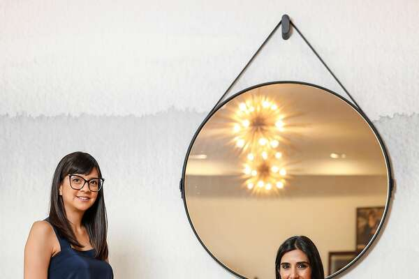 Cuyana founders, Karla Gallardo and Shilpa Shah, are seen on Thursday, Oct. 26, 2017 in San Francisco, Calif.