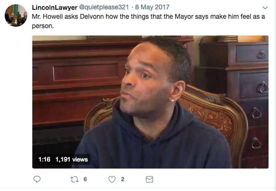 Delvonn Heckard, the first to come forward to publicly accuse former Mayor Ed Murray of sex abuse, has died, according to reports from KIRO Radio. Photo: Lincoln Beauregard Twitter/Screenshot