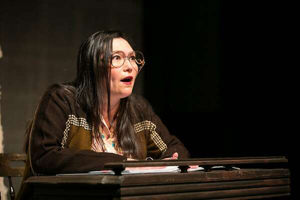 "Heidi Kobara as Aiko Herzig-Yoshinaga in ""Turning the Page,"" one of the short solo plays in TheatreFirst's ""Between Us."""