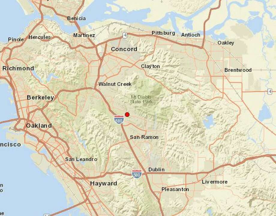 The United States Geological Survey reports a preliminary magnitude 2.8 earthquake struck near Diablo, CA on Friday. Photo: USGS